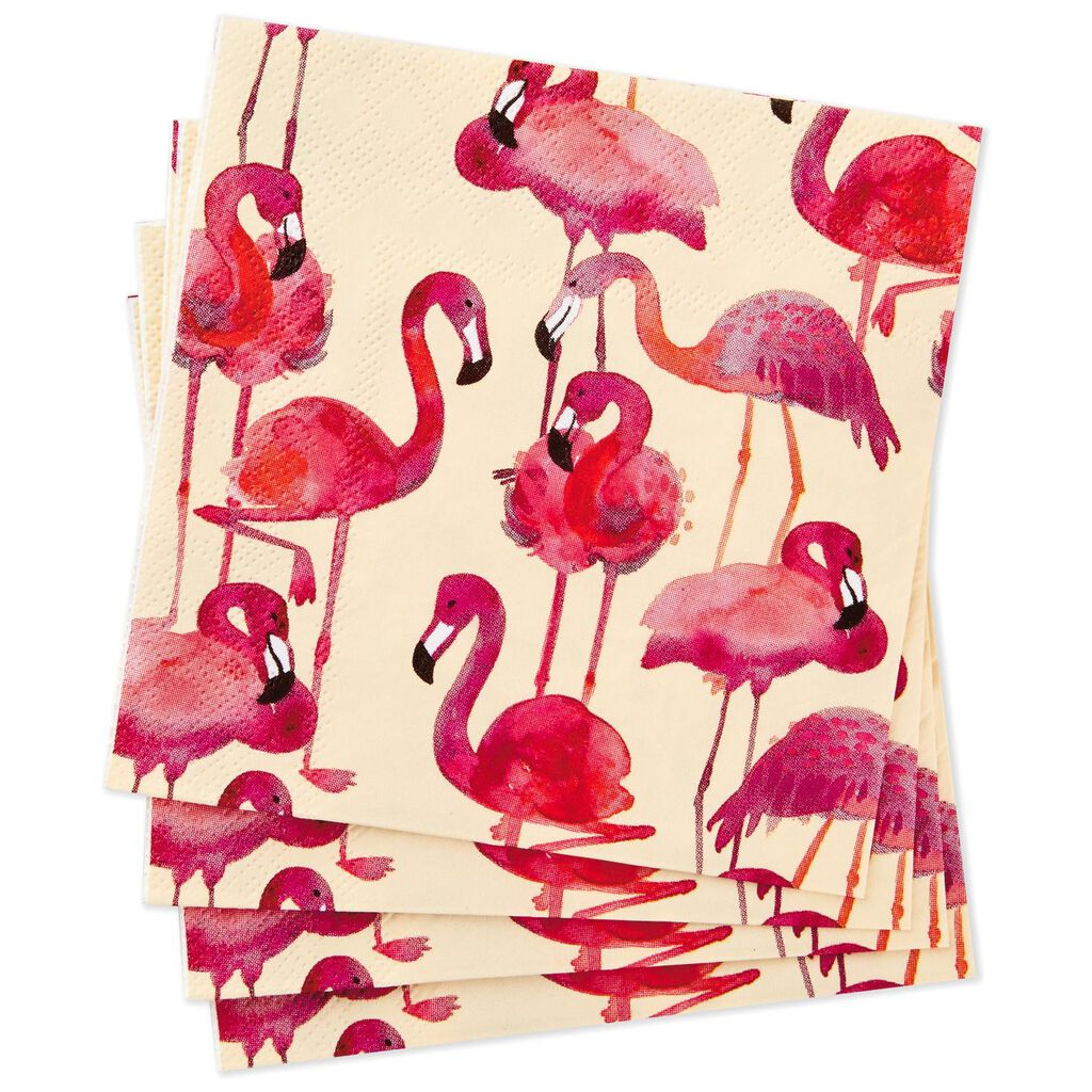 Flamingo Cocktail Napkins, Pack of 20