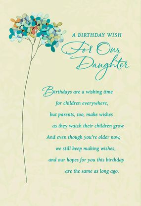 Wishes For Our Daughter Birthday Card