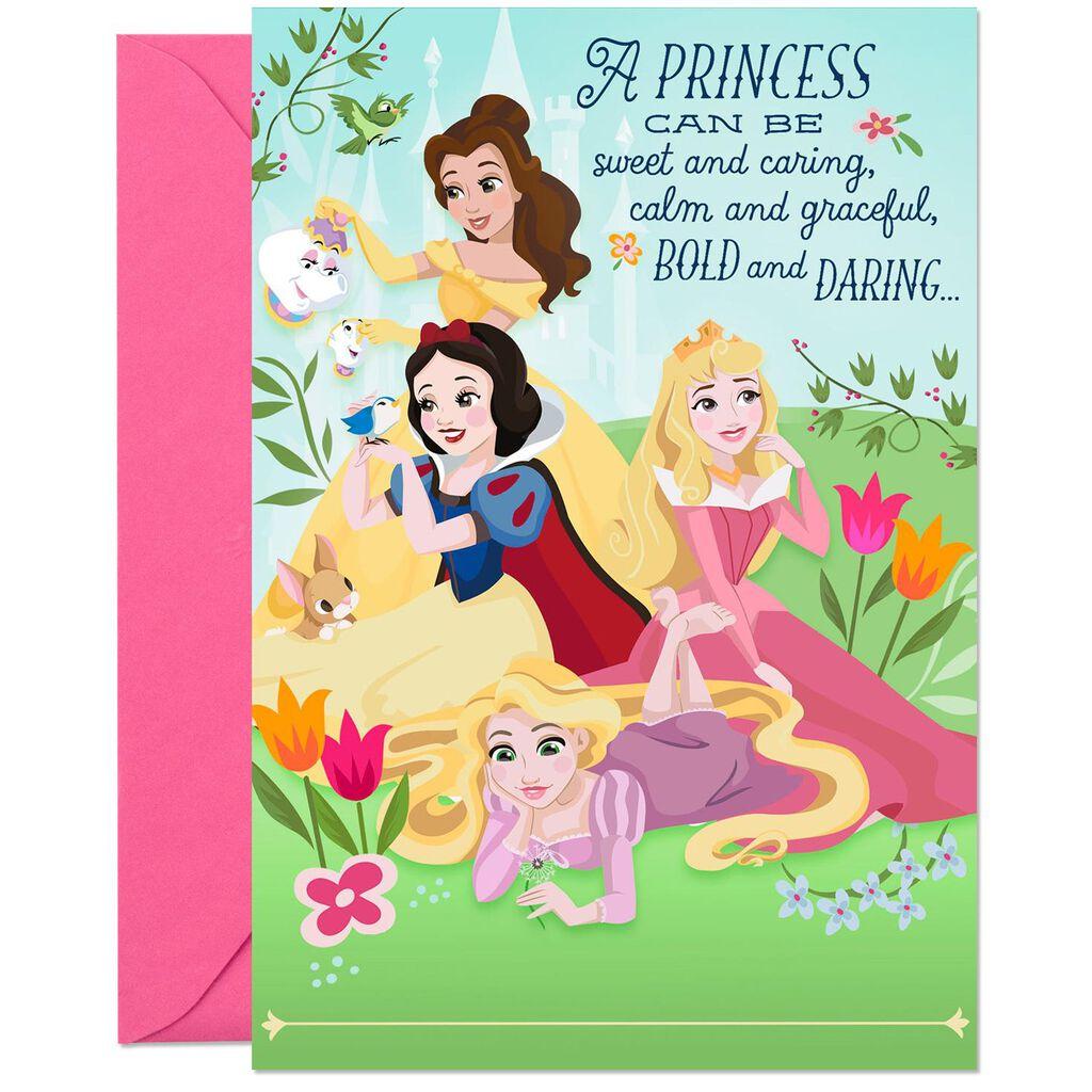 Disney Princesses Royally Fun Musical Birthday Card