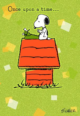 Retro Snoopy Anniversary Card