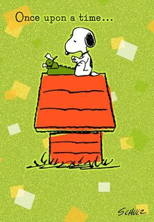 Retro Snoopy Anniversary Card,