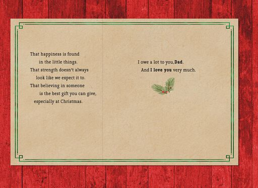 Rustic Pine Trees Christmas Card for Dad,