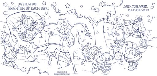 Rainbow Brite Carriage Coloring Card,
