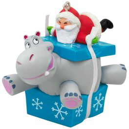 I Want A Hippopotamus For Christmas Santa Musical Ornament, , large