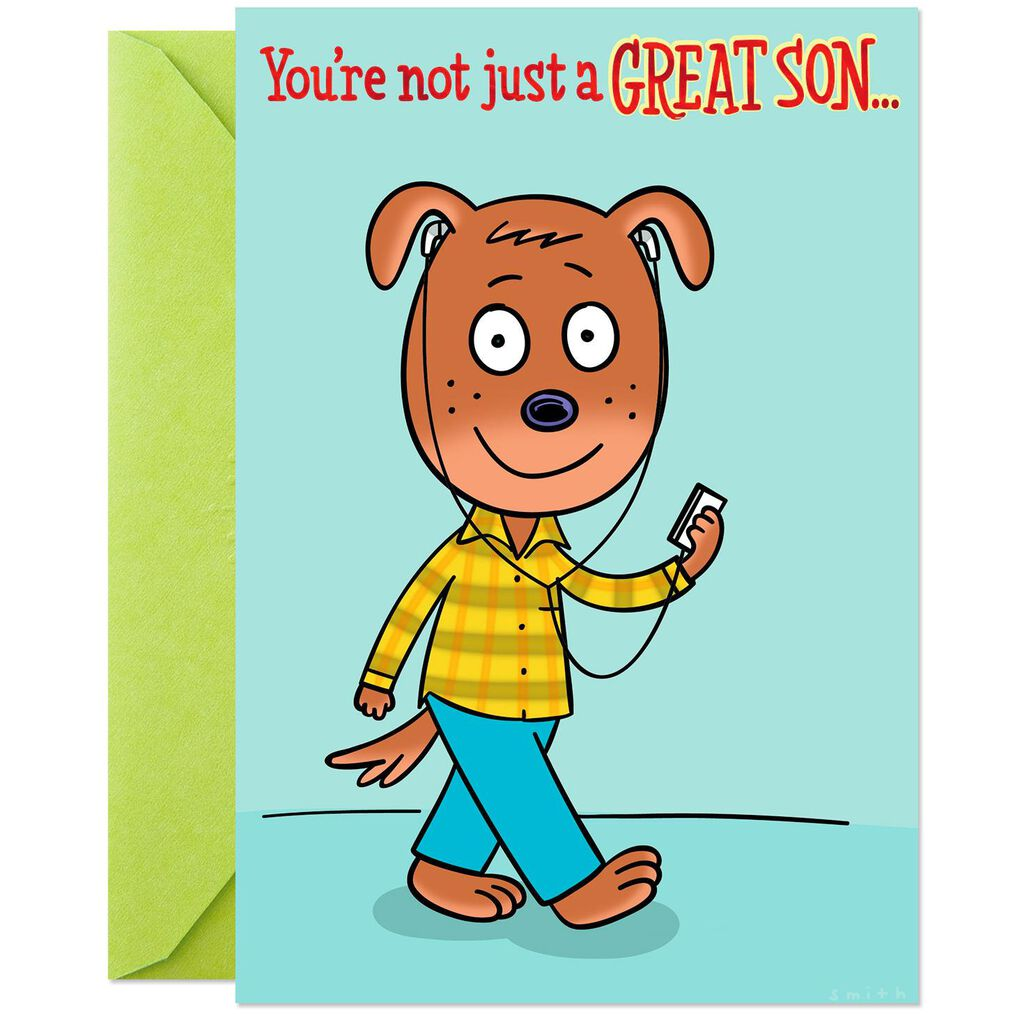 Youre Free Tech Support Funny Pop Up Birthday Card For Son
