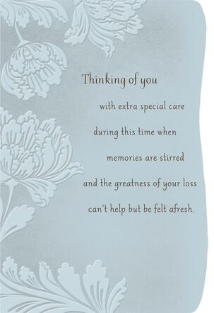 Thinking of You With Extra Special Care Religious Sympathy Card