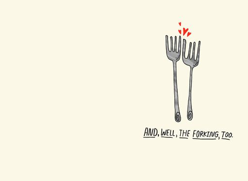 Spoons and Forks Funny Romantic Valentine's Day Card,