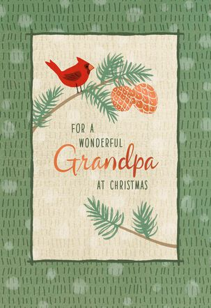 For a Wonderful Grandpa Christmas Card