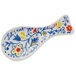 Let's Eat Ceramic Spoon Rest, , large