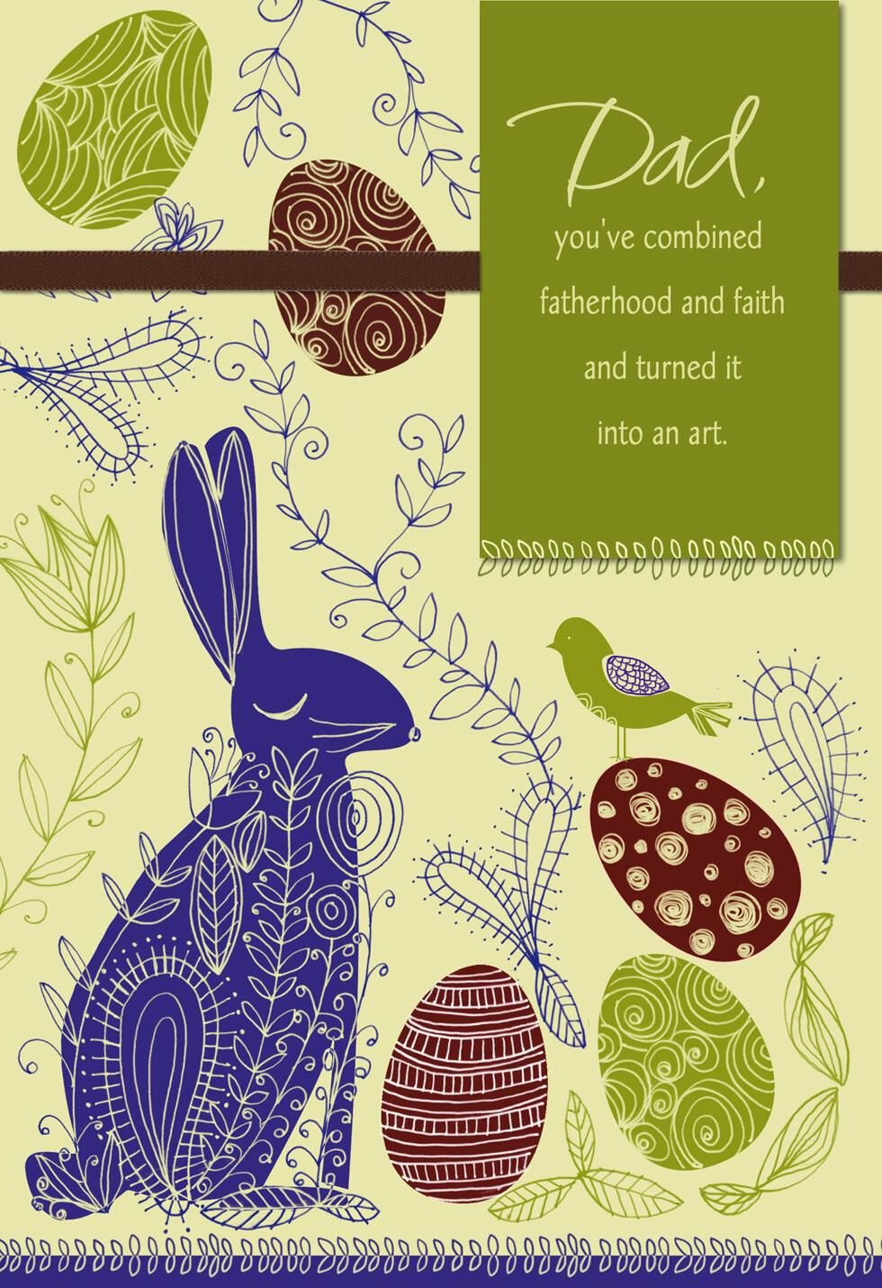Bunny Fatherhood and Faith Easter Card for Dad Greeting Cards – Hallmark Easter Cards