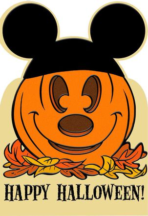 Mickey Mouse Pumpkin Halloween Card
