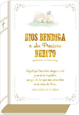 Precious Boy Love Spanish-Language Religious New Baby Card