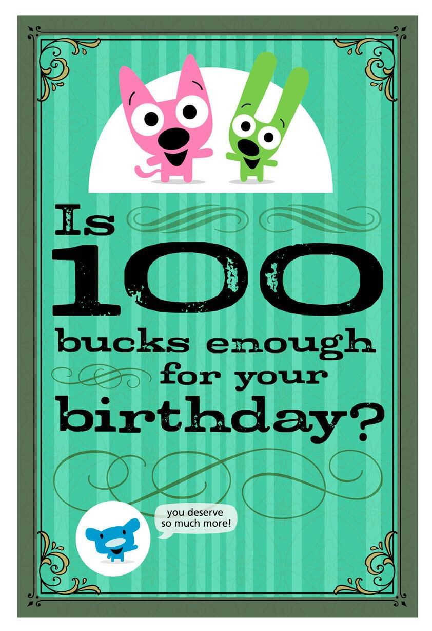 Hoopsyoyo 100 bucks funny birthday sound card greeting cards hoopsyoyo 100 bucks funny birthday sound card greeting cards hallmark bookmarktalkfo Images