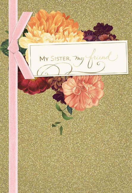 Grateful For What We Share Birthday Card For Sister Greeting Cards