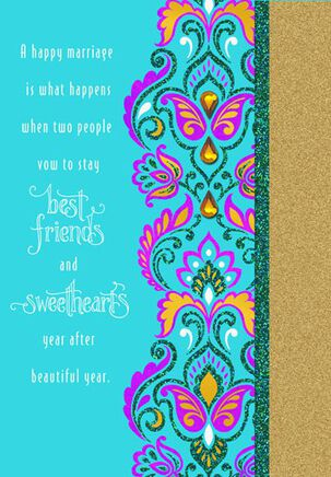 Best Friends and Sweethearts Wedding Card