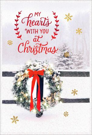 Missing You at Christmas Greeting Card