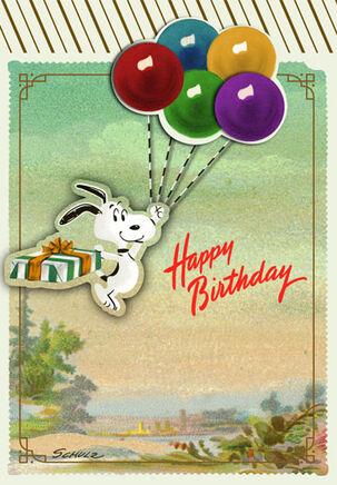 Snoopy Big Time Fun Birthday Card