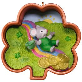 Cookie Cutter Mouse Leprechaun Ornament, , large