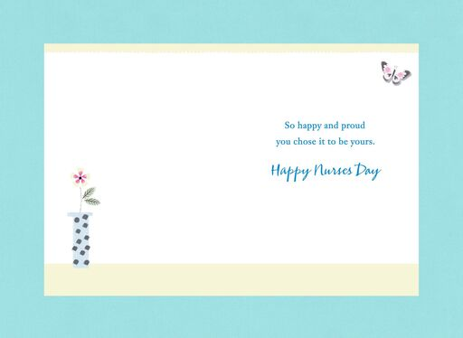 Flower and Butterfly Arch Nurse and Sister Nurses Day Card,
