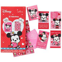 Minnie Mouse Kids' Valentines With Stickers, 32 Pack, , large