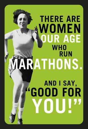 Marathons And Margaritas Funny Birthday Card For Her