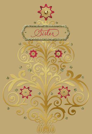 Wonderful Gift Christmas Card for Sister