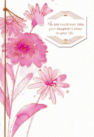 Pink Flowers Sympathy Card for Loss of Daughter