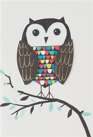 Wise Wonderful You Owl Birthday Card
