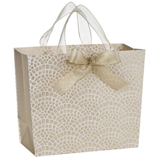 Gift bags hallmark gold and pink scallops medium gift bag 95 negle Image collections