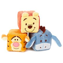 Winnie the Pooh and Friends Stuffed Rattle Baby Blocks—Set of 3, , large