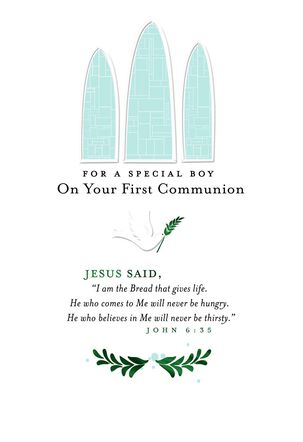 For a Special Boy First Communion Card