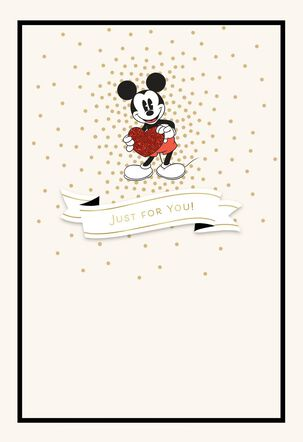 Mickey Mouse All the Love Valentine's Day Card