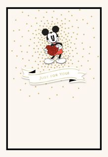 Mickey Mouse All the Love Valentine's Day Card,