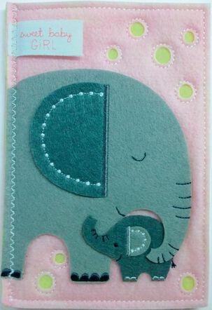 Lucky Little Girl New Baby Card