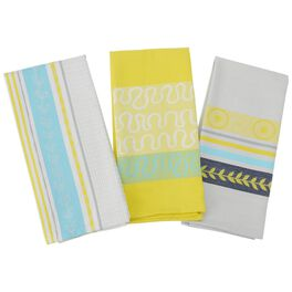 Summer Citrus Kitchen Towels, Set of 3, , large