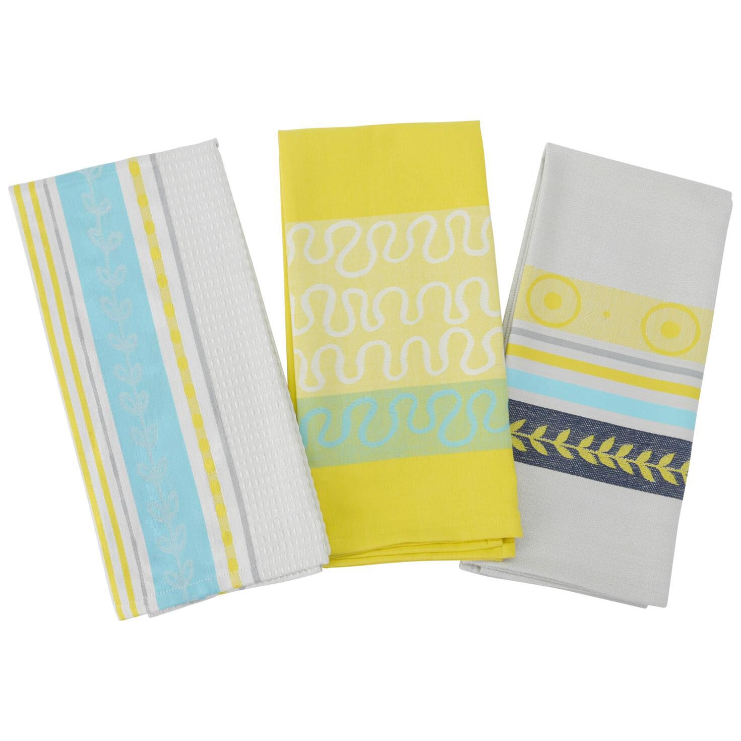 Summer Citrus Kitchen Towels, Set Of 3