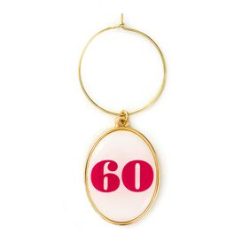 60th Birthday Wine Charm, , large