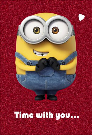 Despicable Me Minions Time With You Valentine's Day Card