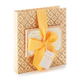Neutral and Orange Recipe Book Gift Set, , large