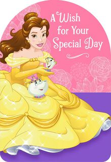 Beauty and the Beast Belle Special Wish Birthday Card,