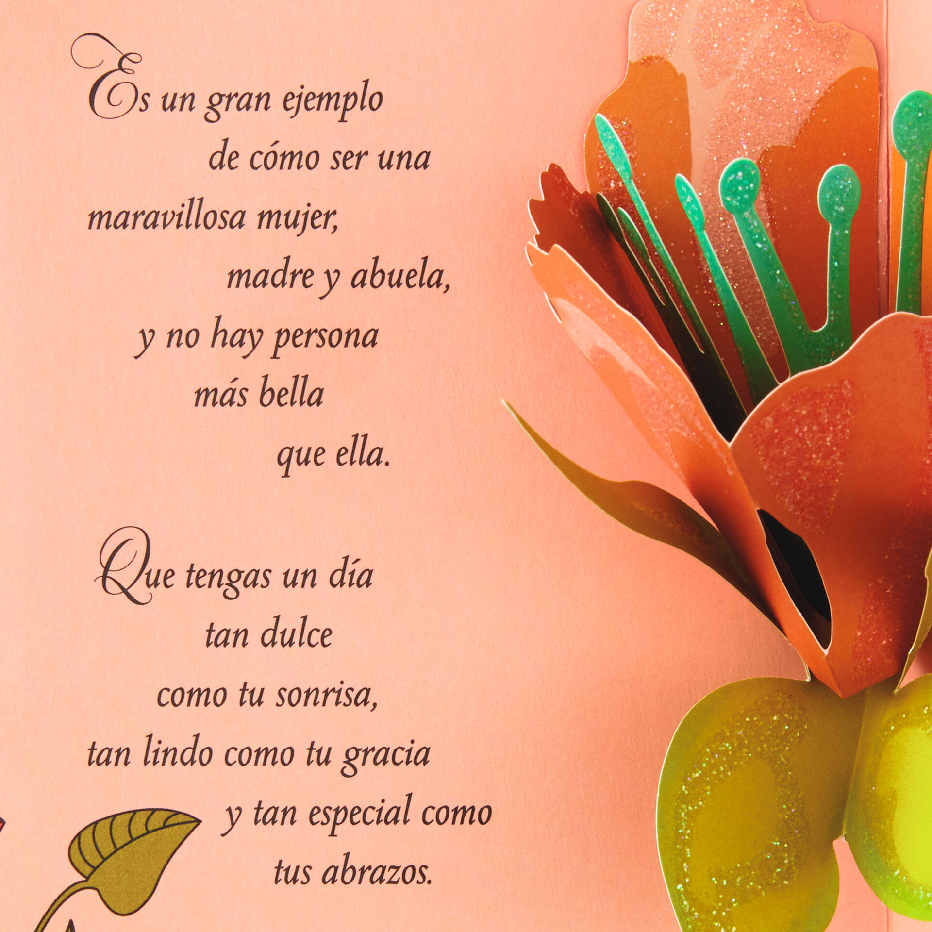 you are beautiful spanishlanguage mother's day card for