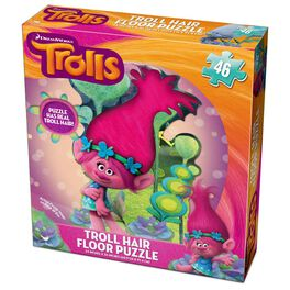DreamWorks Trolls Poppy Floor Puzzle With Hair, 46 Pieces, , large