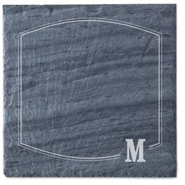 Single Monogram Personalized Slate Cheese Board, , large