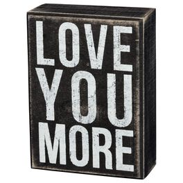 Primitives by Kathy Love You More Box Sign, , large