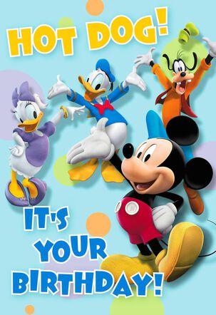 Mickey Mouse Hot Dog Birthday Card
