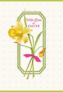 Daffodil Easter Card for Daughter,