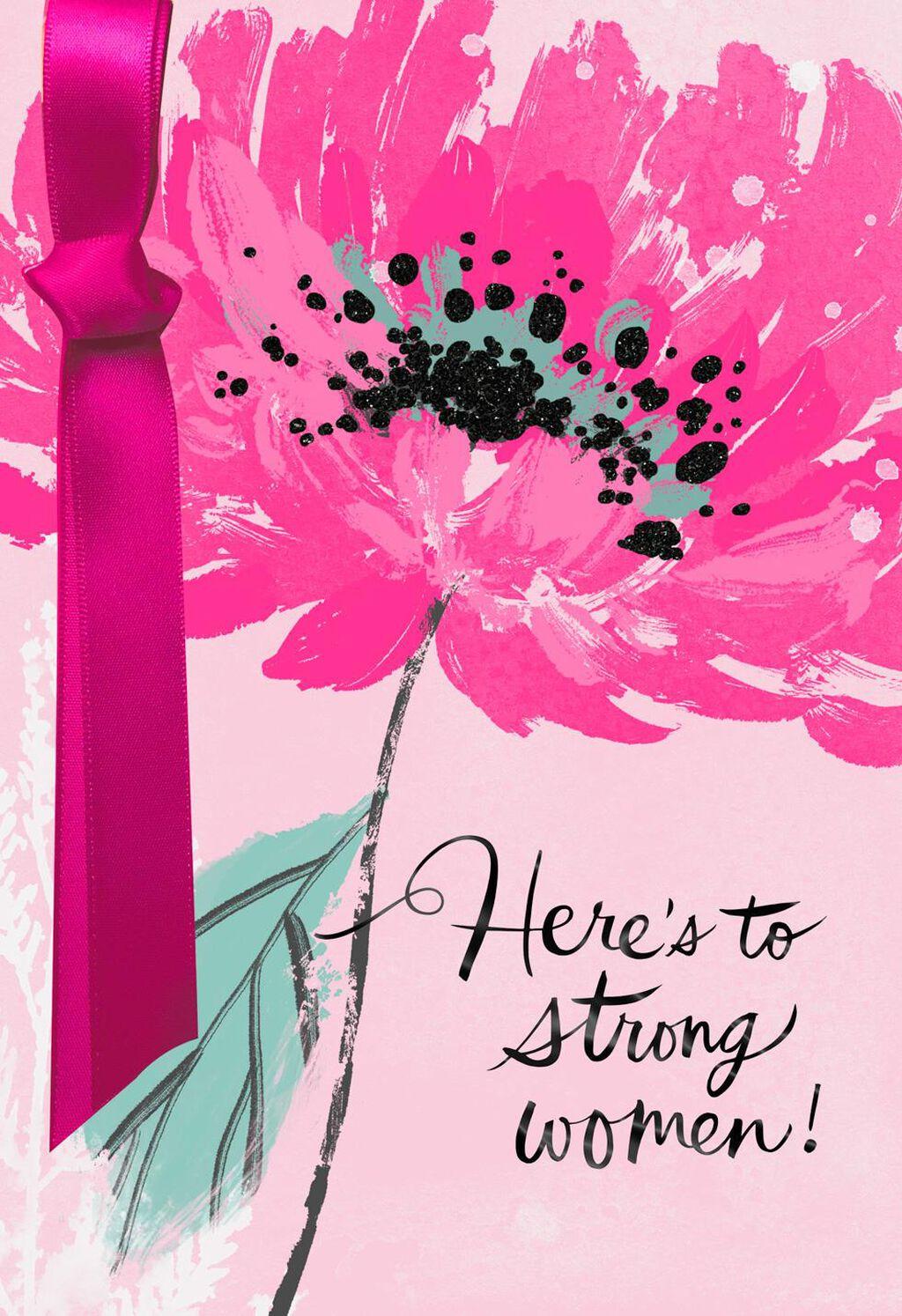 Strong Woman Birthday Card Supporting Susan G KomenR