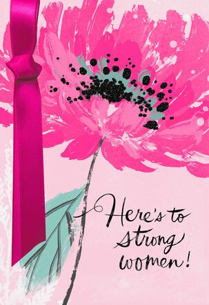 Strong Woman Birthday Card Supporting Susan G. Komen®