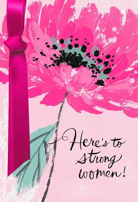 Strong Woman Birthday Card Supporting Susan G Komen Greeting