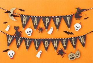 ghosts cats and skulls halloween card - Photo Halloween Cards